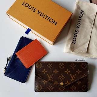 Authentic Louis Vuitton Monogram Jeanne Wallet M62203 LV