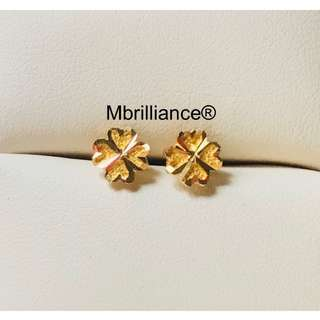 4 hearts earstuds  916 Gold by Mbrilliance
