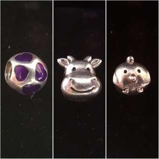 Pandora charms for sale ( 3 charms together)
