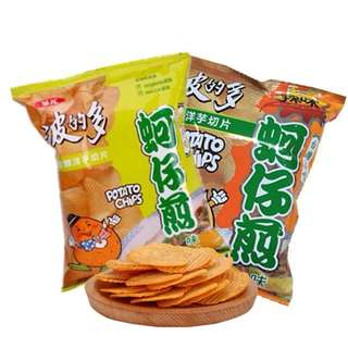 華元波的多 蚵仔煎原味辣味厚切薯片 蚵仔煎/辣蚵仔煎/焗烤起司/皇家奶油 43g