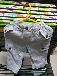 嬰幼兒褲子/外穿褲子/藍白直條紋 適合0-6個月穿,65cm