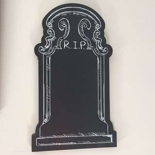 Tombstone sign Halloween