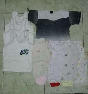 Set kaos singlet celana