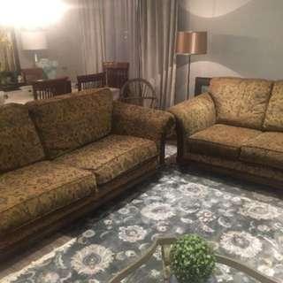 2 Piece Set Couches (Love seat & sofa)