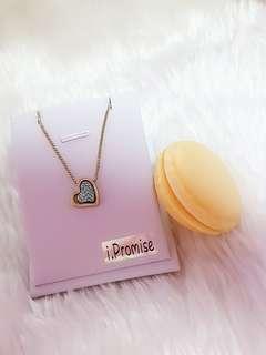 (Free macaron box) swarovski elements crystal heart necklace