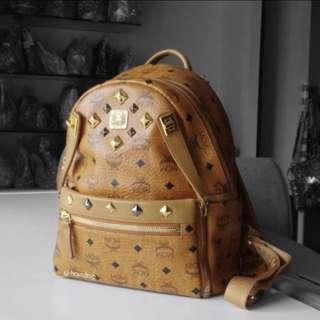 Authentic MCM Dual Stark Small Backpack