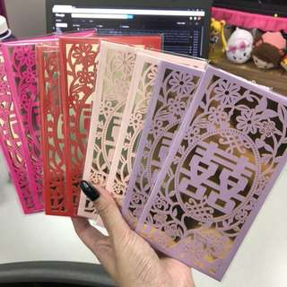 Laser Cut Angbao Red Packets for Wedding