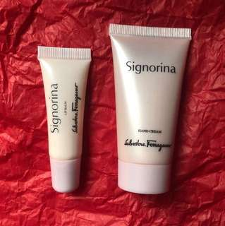 Salvatore Ferragamo Hand Cream and Lip Balm