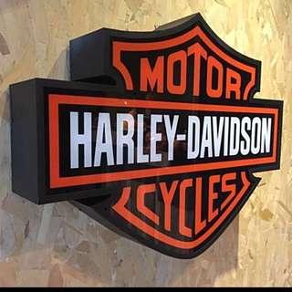 Harley Davidson Iconic Signage Lightbox
