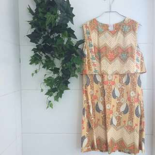 Yellow Modern Batik Dress