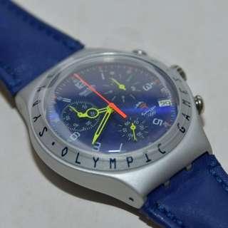 Swatch - Irony Chrono Aluminium - Sydney 2000 Olympic Games - RUSHCUTTERS (YCS4005) Swiss Made wrist watch 絕版 (請留意下面Information)