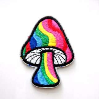 Magic Mushroom Rainbow Hippie Hipster Dope Iron On Patch
