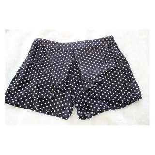Alice in the Eve - Polka Dot Shorts - Black and White - Size 6 - Preloved