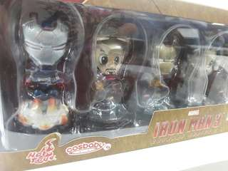 Sale!!! repriced Hot toys Ironman 3 Cosbabys Set of 6