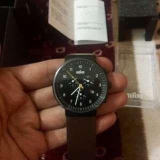 Braun Watch BN0035BKBRG Crono Brown Leather Original