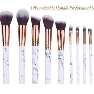 Marble 10pcs Make Up brush set