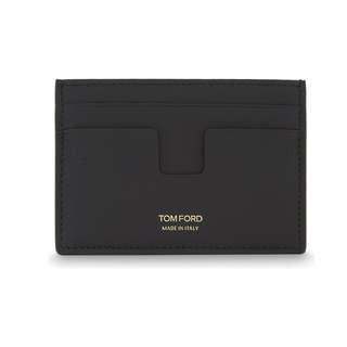 TOM FORD Grained leather card holder 意大利男裝卡片套 黑色/深啡