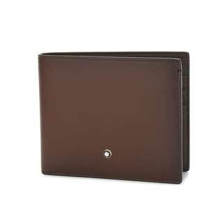 歐洲代購 意大利 MONTBLANC Sfumato leather wallet Brown 男裝啡色銀包