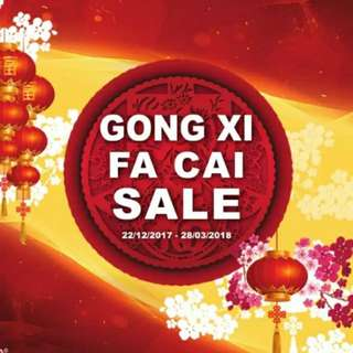 GONG XI FA CHAI Sale is ON