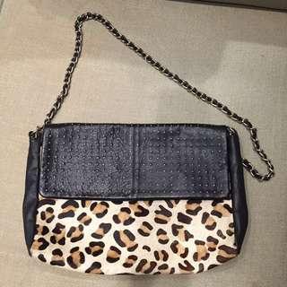 MANGO Leather Sling Bag