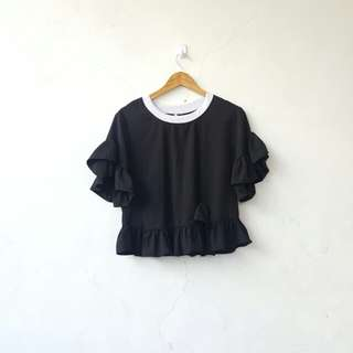 ⚠ REPRICED ⚠ Black baby doll top