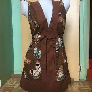 Brown butterfly dress
