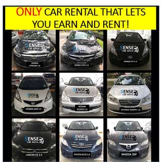$280/WEEK ALL* CARS RENT AND EARN WITH SENSE!