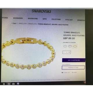 AUTHENTIC SWAROVSKI 18CM BRACELET