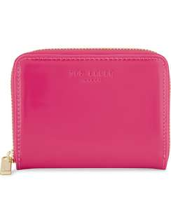 Crazy Sale $350 TED BAKER deep pink  Omarion patent-leather mini purse Valentine's Day Chinese New Year,birthday,Anniversary gift  情人節新年生日週年禮物