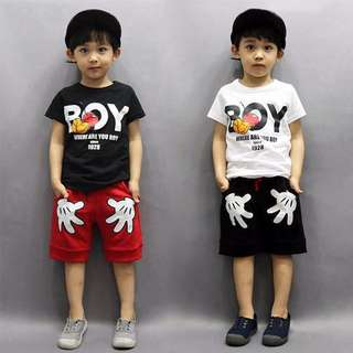 Boy Mickey T-shirt + Short set
