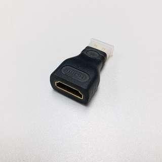 Mini HDMI(公)轉HDMI(母)轉插(2個)(包本地平郵)