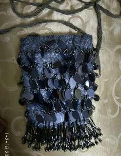 Gray Sequins Sling Bag