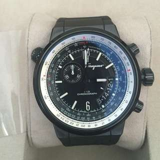 Salvatore Ferragamo F-80 F80 Black Ion-Plated Stainless Steel Watch
