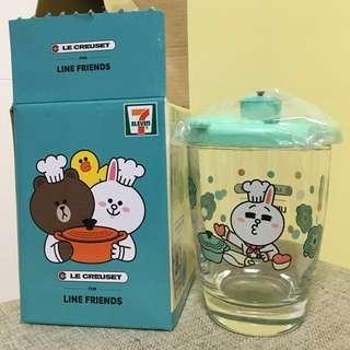 Line friends 7-11 le creuset Cony 兔兔玻璃杯
