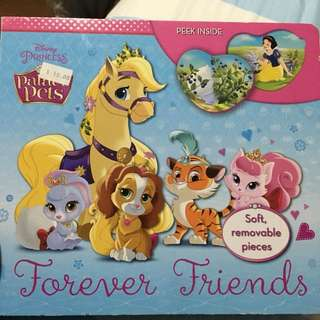 Lightly used disney princess forever friends book with puzzle