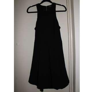 Ally | Black Pleated Skater Dress