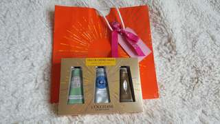 L' Occitane hand cream trio