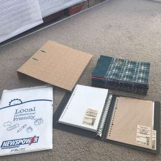 MUJI notebooks and papers