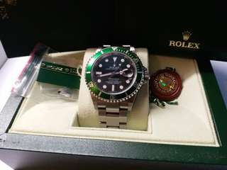 (Sold)Rolex 16610lv Submariner 綠圈D頭888