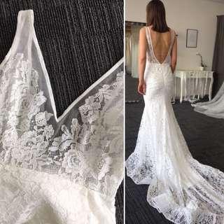 Boho French lace or chiffon wedding dress 6-8-10-12 $500