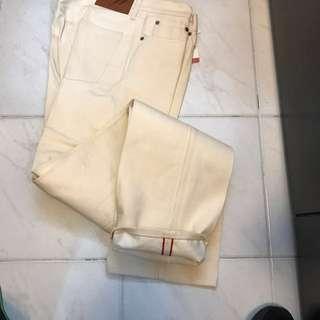 Japan brand boycott men's off white color Denim unwash W32 made in japan