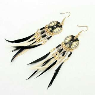 Boho Tribal Feather Dangling