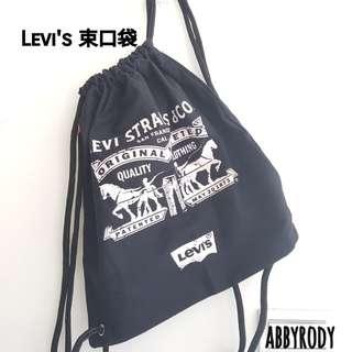 🚚 Levis黑色束口袋 全新!