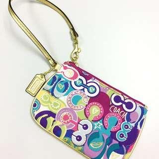 Coach 幾何圖形飾品包/化妝包