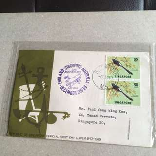 6.12.69. Spore FDC 50th Anniversary First Flight
