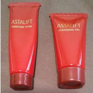 Set of astalift cleansing foam 12g and gel makeup remover 12g trial sample
