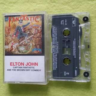 ELTON JOHN. captain fantastic and the brown dirt cowboy. Cassette tape not vinyl record