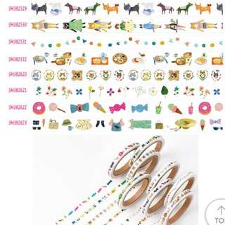 Thin cartoon Washi tape