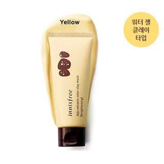 INSTOCK Innisfree Jeju Volcanic Color Colour Clay Mask Brightening Yellow BN