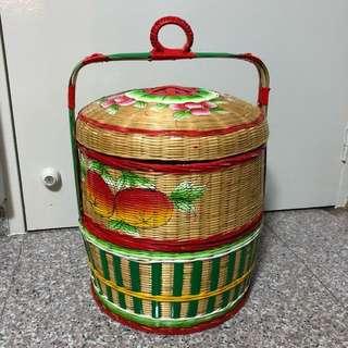 2 tier Chinese wedding Guo Da Li basket - For Betrothal/过大礼